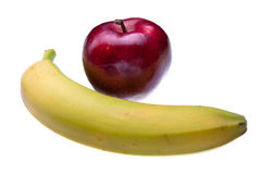 Apple and Banana Stock Photos
