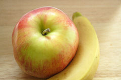 Apple and banana Royalty Free Stock Images