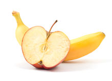 Apple and banana Royalty Free Stock Photos