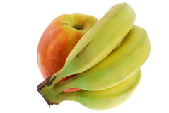 Apple and banana Royalty Free Stock Photo