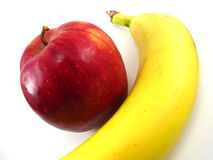 Apple and Banana Royalty Free Stock Photography