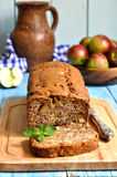 Apple and banana cake. Stock Photography