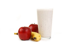 Apple Banana Fruit Smoothie Royalty Free Stock Image