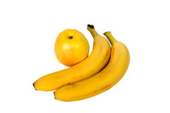 Apple banana isolated Stock Photo