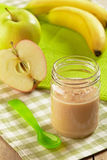 Apple and banana puree Stock Image