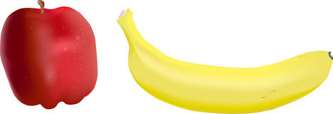 Apple and Banana Royalty Free Stock Image
