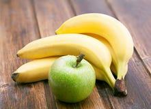 Apple and bananas Stock Photography