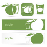 Apple banners and symbols Royalty Free Stock Images