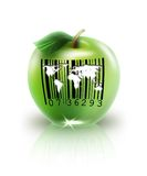 Apple with bar code Royalty Free Stock Photography