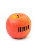Apple with barcode Royalty Free Stock Image