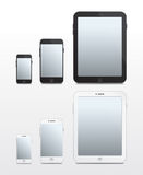 Apple-baserade telefoner och minnestavlor - vektor Arkivbild