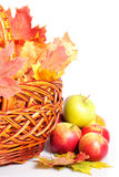 Apple and basket Stock Photos