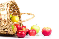 Apple and basket Royalty Free Stock Photo