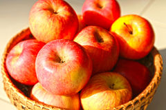 Apple in the basket Royalty Free Stock Image