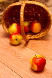 Apple and a basket Stock Photos