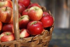 Apple basket closeup Royalty Free Stock Image