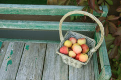 Apple in basket Royalty Free Stock Photography