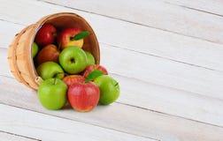 Apple Basket Spill Stock Photography