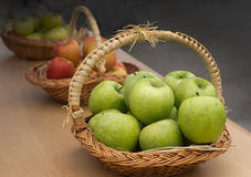 Apple baskets Stock Images