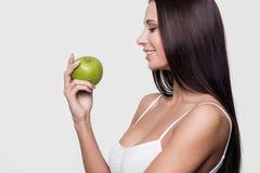 apple beautiful girl green Στοκ Εικόνες