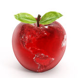 Apple bedecken mit Erde Lizenzfreies Stockfoto