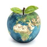 Apple bedecken mit Erde Lizenzfreie Stockfotos
