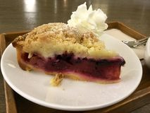 Apple Berry Crumble with vanilla. Apple berry crumble A crumble is a dish of British origin that can be made in a sweet or savoury version, although the sweet royalty free stock image