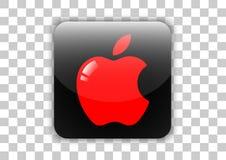 Apple-Betriebssystemikonenknopf mit Symbol nach innen stock abbildung