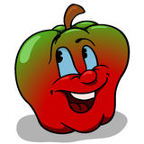 Apple With Big Smile Stock Images