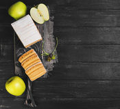 Apple biscuit pie Royalty Free Stock Image