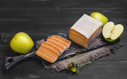 Apple biscuit pie Royalty Free Stock Photography