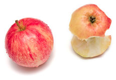 Apple and bit Royalty Free Stock Photo