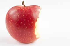 Apple bite. Red apple full size with a bite Royalty Free Stock Photography