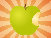 Apple with bite  illustration Royalty Free Stock Images