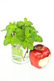 Apple Bite and mint Royalty Free Stock Photography