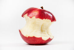 The apple. Bitten apple photographed on a white background stock photography