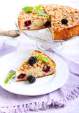 Apple and blackberry cake Royalty Free Stock Image