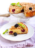 Apple and blackberry cake Stock Image
