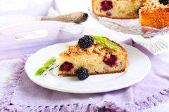 Apple and blackberry cake Royalty Free Stock Photography