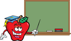 Apple with a blackboard Royalty Free Stock Image