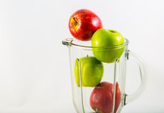 Apple in blender Royalty Free Stock Photo