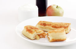 Apple blintzes Stock Photos