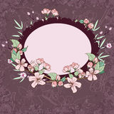 Apple blossom invitation card Royalty Free Stock Photos