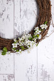 Apple Blossom Wreath Royalty Free Stock Images