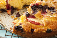 Apple and Blueberry Cake Stock Photo