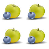 Apple and blueberry pattern Royalty Free Stock Photo