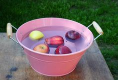 Apple bobbing. Shot of a bowl of apples ready for apple bobbing Royalty Free Stock Photos