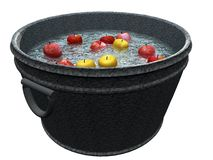 Apple Bobbing Bin Stock Images