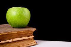 Apple and book_01 Stock Photography