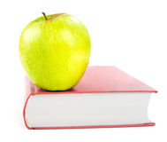 A apple on a book Royalty Free Stock Photography